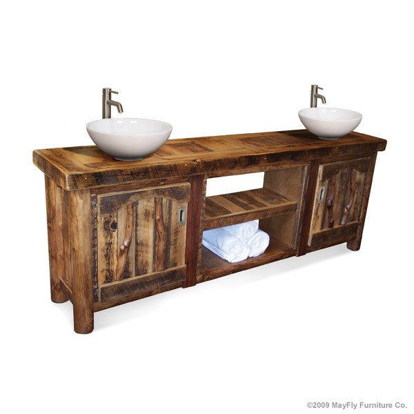 Bath vanity 2sk medBarnwood Rustic Vanity   Double   MayFly Furniture Co . Rustic Vanities For Bathrooms. Home Design Ideas